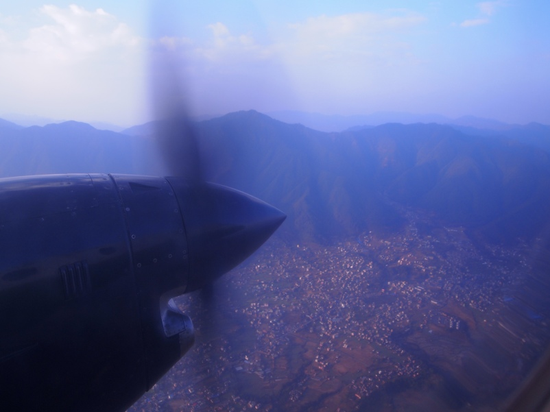 flying into Pokhara