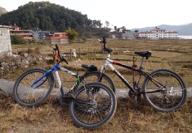 bicycles in Pokhara