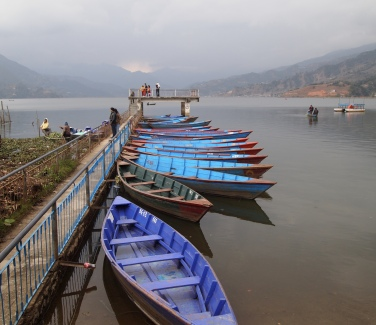 boats on Phewa Tal