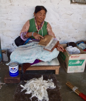 a Tibetan woman in Tashiling