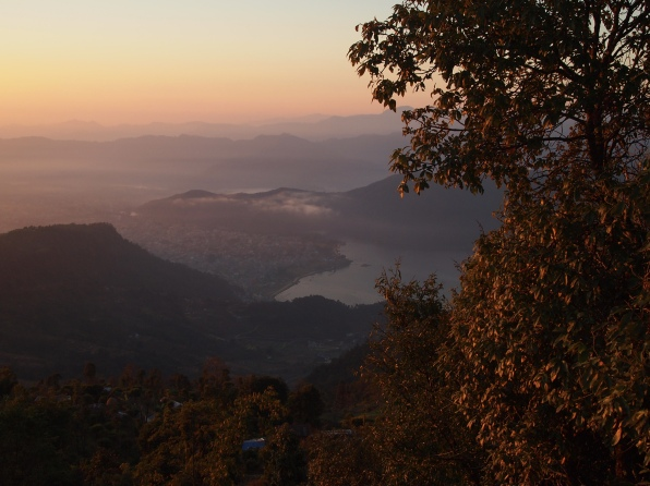 sunrise over Phewa Tal
