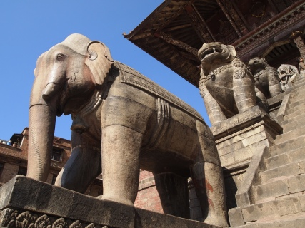 one of the pair of elephant guardians