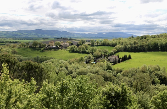 view from hilltop town of Bagno Vignoni