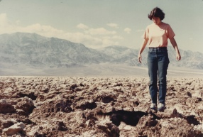 me on the Devil's Golf Course, Death Valley, 1979
