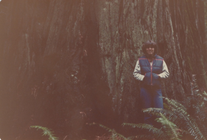 me at Redwood National Forest 1979