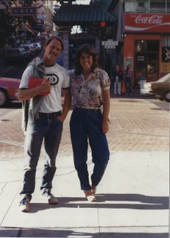 Bill and me in Chinatown, San Francisco 1983