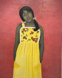 They Call Me Redbone bu I'd Rather be Strawberry Shortcake, 2009 by Amy Sherald