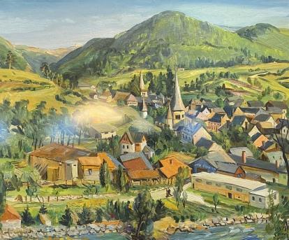 Arreau, Hautes-Pyrénées, 1949 by Loïs Mailou Jones