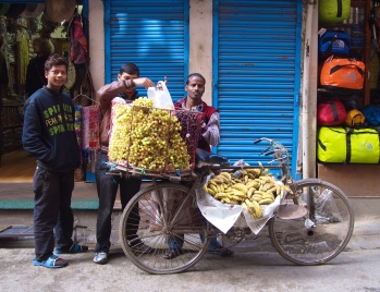 fruit vendors in Thamel