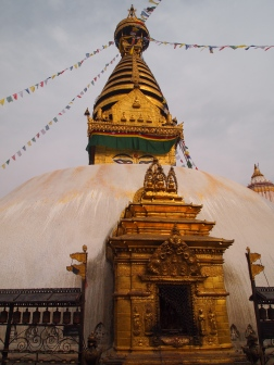 the Swayambhu stupa