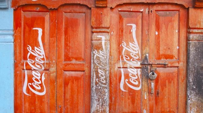 Coca-Cola doors