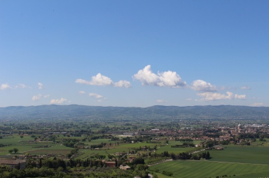 view over the Umbrian plains from the Basilica di San Francesco