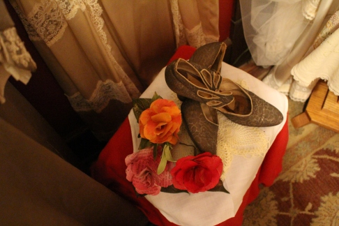 wedding shoes in the Swedish Heritage Center