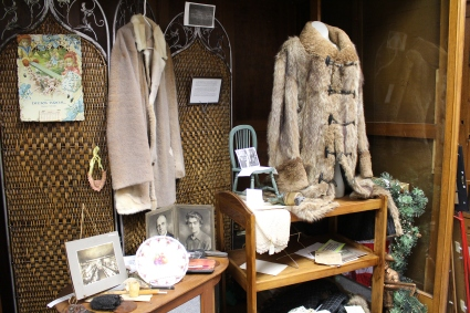 fur coats and clothing at the Madison County Historical Society Museum