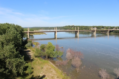 view from Meridian Bridge over the Missouri River