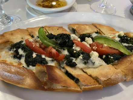 Spinach pide at Istanbul Blue