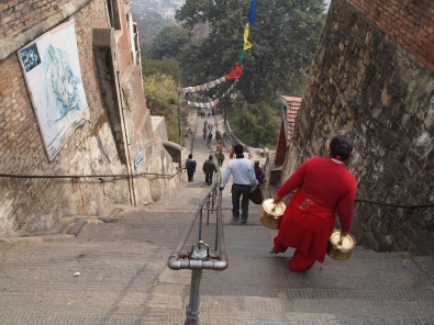 the steps to Swayambhu