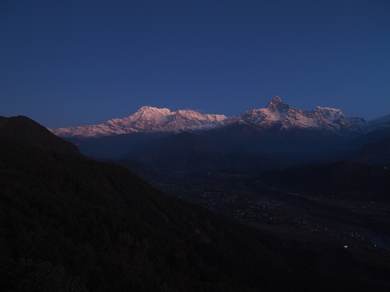 Annapurna Himal & Machhupuchhre before sunrise