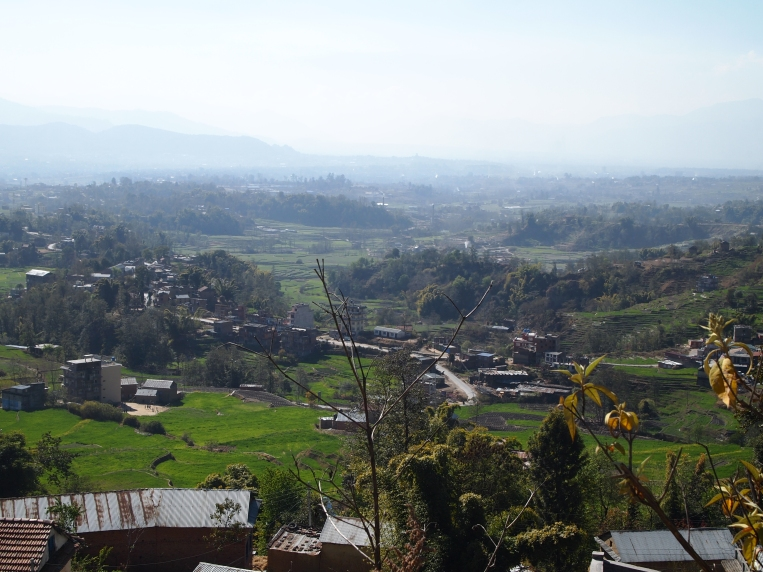 the view during the drive up to Nagarkot