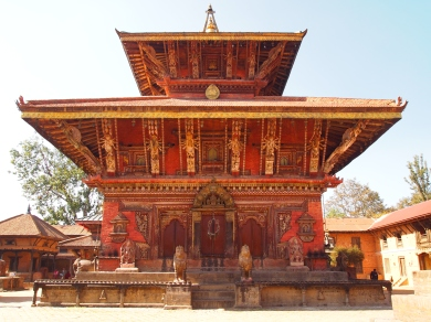 the temple of Changu Narayan