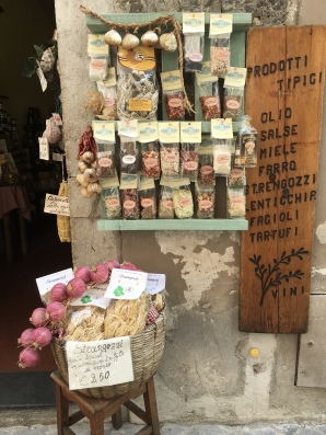 pasta display in Spoleto