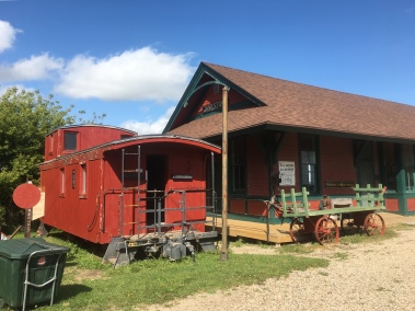 Caboose and Train Depot