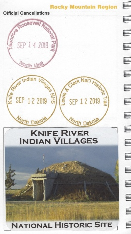 cancellation stamp for Knife River Indian Villages