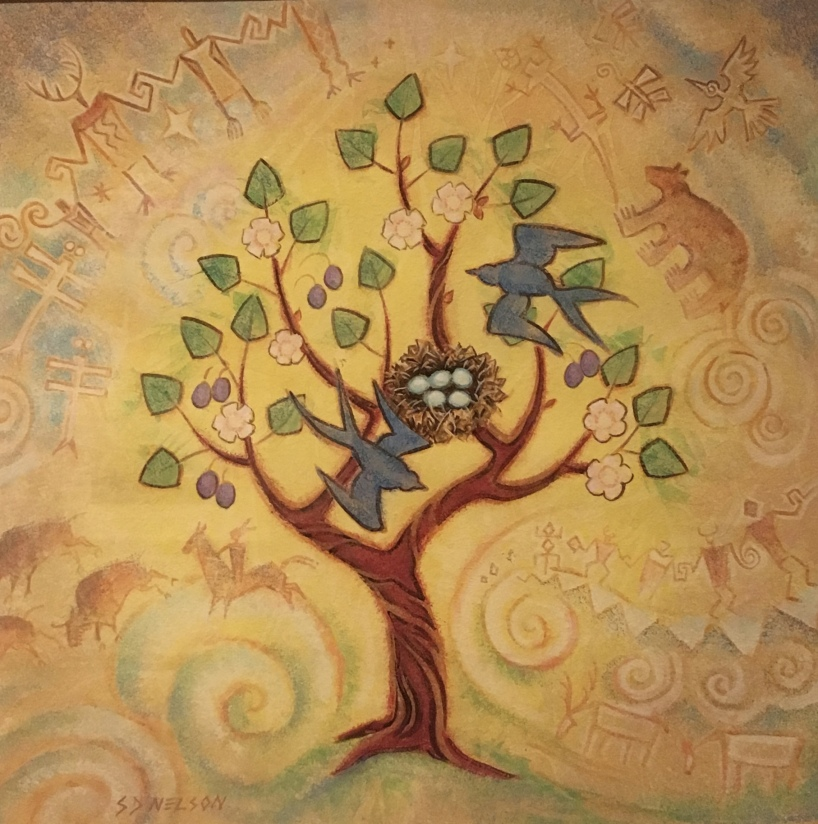 The Tree of Life by S.D. Nelson (Illustration from Black Elk's Vision: A Lakota Story, 2010)
