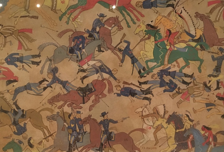 The Battle of the Little Bighorn by S.D. Nelson (Illustration from Black Elk's Vision: A Lakota Story, 2010)