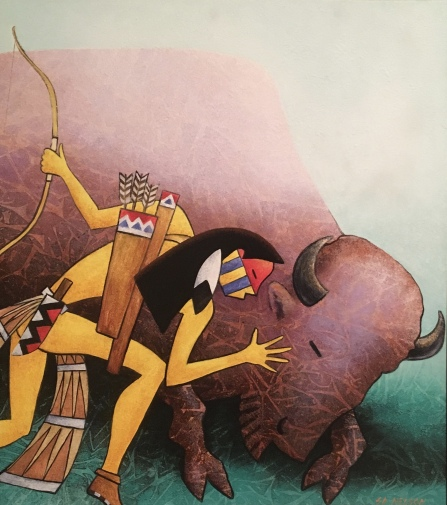 Buffalo Brother by S.D. Nelson (Illustration from Gift Horse: A Lakota story, 1999)