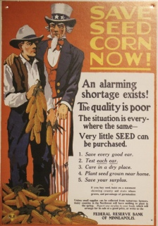 Notice that alarming shortage of seed corn