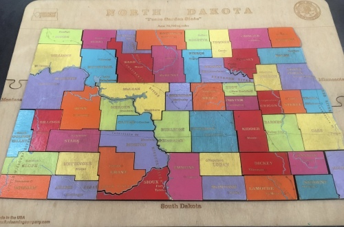 puzzle map of North Dakota