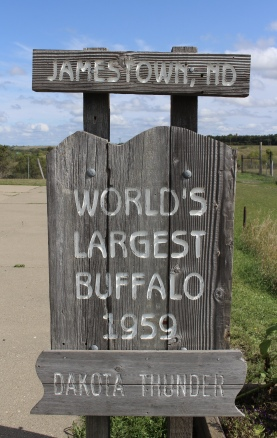 World's Largest Buffalo Monument 1959