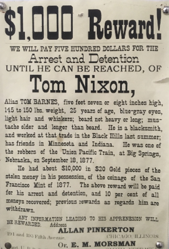 $1,000 Reward for Tom Nixon