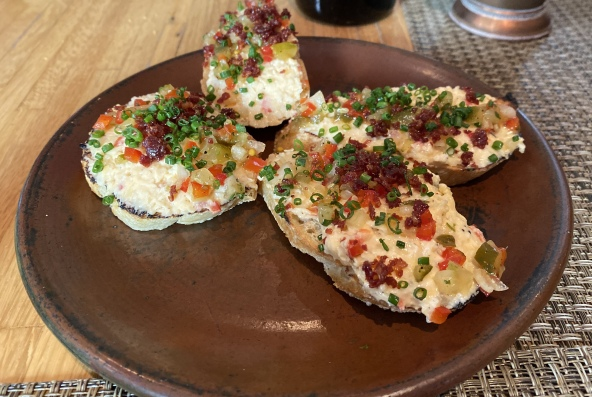 Sweet Water Valley Pimiento Cheese Grilled Crostini