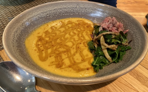 Soup of roasted squash