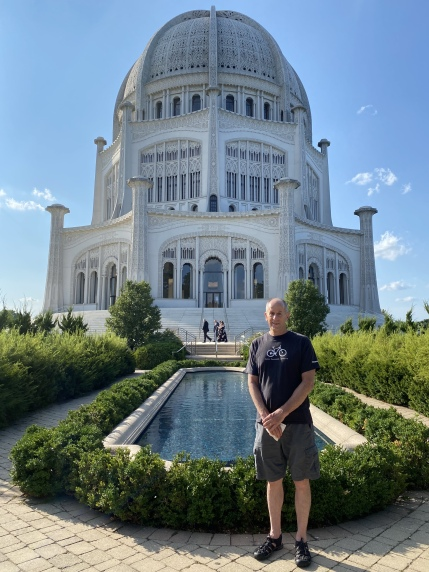 Mike at Bahá'i Temple of Worship
