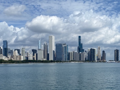 view of the city from the lakefront