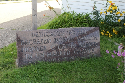 Dedicated to All Deceased North Dakota Pioneer Citizens Buried in Unmarked Graves