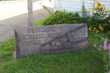 Dedicated to All Deceased North Dakota Pioneer Citizens Buried in Unmarked Graves