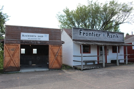 Blacksmith Shop and Frontier Bank
