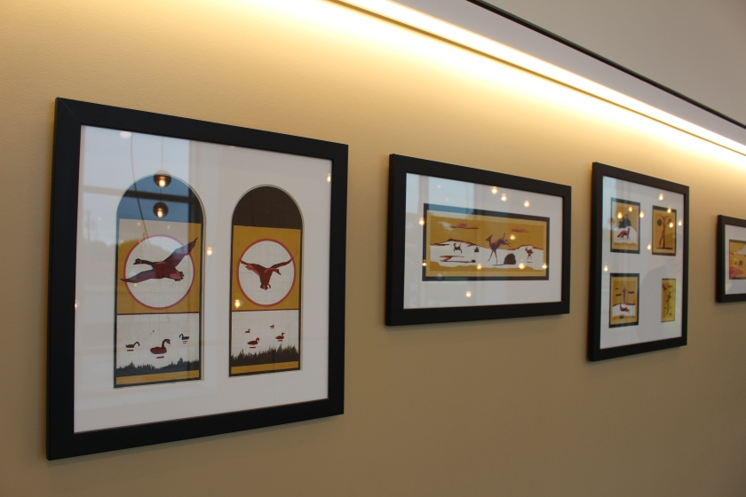 Oscar Howe's panel drawings