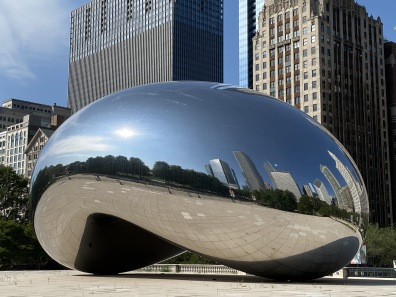 "Cloud Gate, aka ""The Bean"" at Millennium Park"