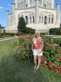 me at the Bahá'i Temple of Worship