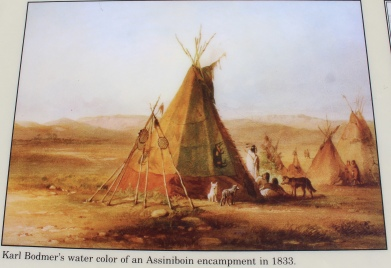 Karl Bodmer's watercolor of an Assiniboine encampment