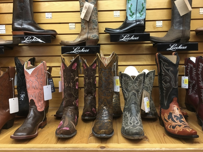 boots at Wall Drug