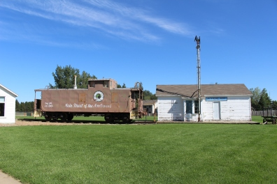 South Heart Depot and rail car
