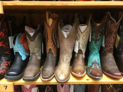 boots at Wall Drug