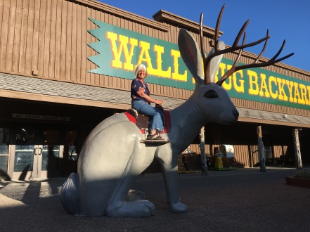 I ride the jackalope at Wall Drug