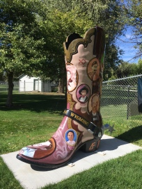 """Outlaws of Wyoming"" boots by Cheyenne Artists Guild"
